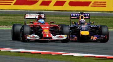 Vettel vs Alonso British GP 2014