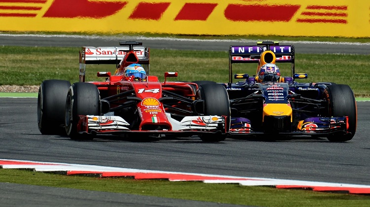 Vettel vs Alonso British GP 2014