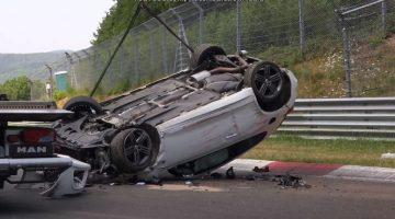 Volkswagen Scirocco over de kop Nordschleife