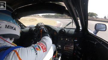 Le Mans winnende McLaren F1 GTR op Laguna Seca
