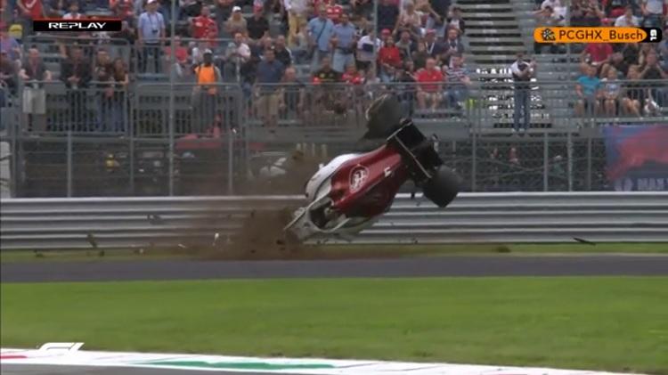 Marcus Ericsson Crash Monza
