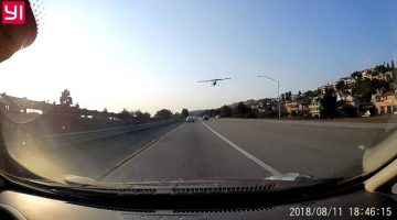 Noodlanding op snelweg