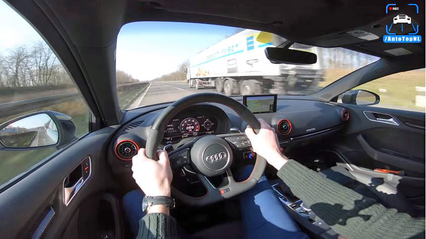 Audi RS3 Sportback topsnelheid