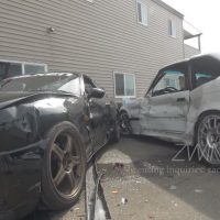 BMW E36 M3 botst tegen Supra MK4
