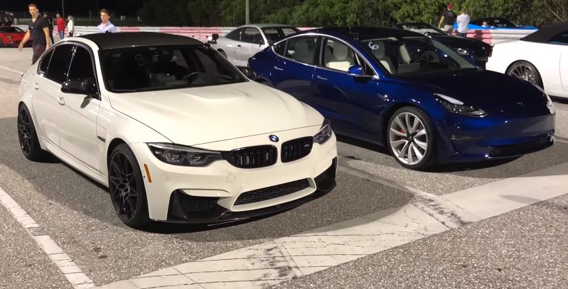 BMW M3 Competition vs Tesla Model 3 Performance