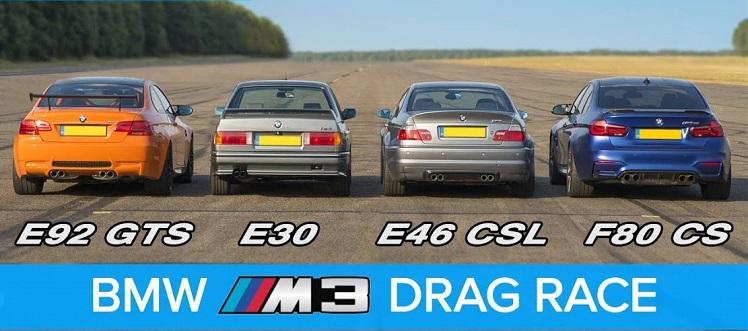 BMW M3 Dragrace