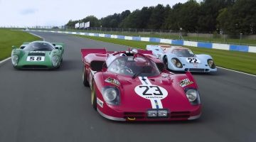Dario Franchitti test Porsche 917, Ferrari 512S & Lola T70
