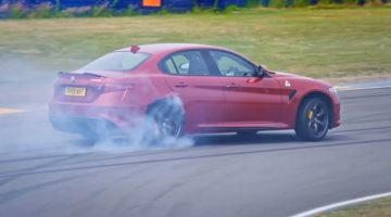 Fifth Gear gaat driften met Giulia QV en AMG C63