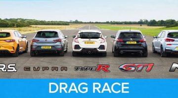 Nieuwe Megane RS vs Cupra R - 308 GTi - i30N - Type-R