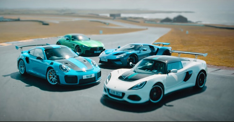 Track-Battle-Ford GT vs 911 GT2 RS vs AMG GT R vs Exige Cup