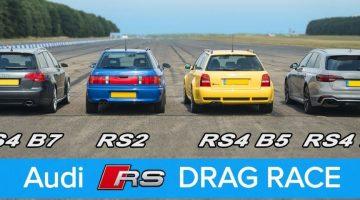 Audi RS dragrace