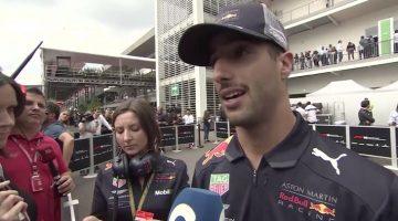 Daniel Ricciardo interview Mexican GP