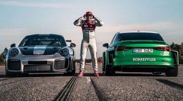 De Audi S4eP accelereert achteruit sneller dan een 911 GT2 RS