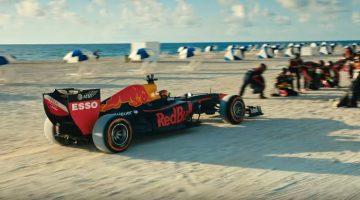 Max Verstappen rijdt de Red Bull F1 van Rocky Mountains naar Miami