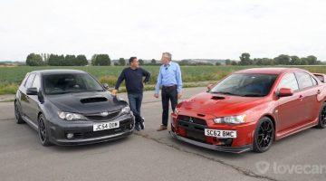 Subaru Impreza WRX STI Cosworth CS400 vs Mitsubishi Lancer EVO X FQ400