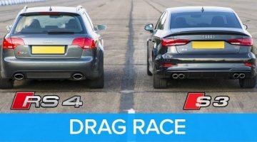 310 pk Audi S3 Limousine vs 420 pk Audi RS4 B7