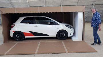 James May unboxing Toyota Yaris GRMN