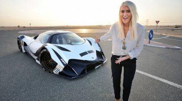 Supercar Blondie maakt ritje in de Devel Sixteen
