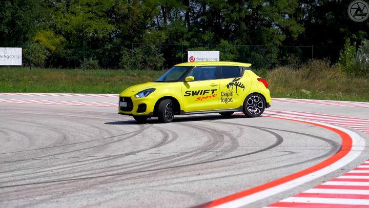 Suzuki Swift gaat dwars