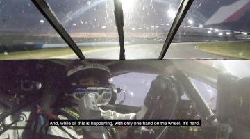 Alex Zanardi bestuurt een BMW M8 GTE