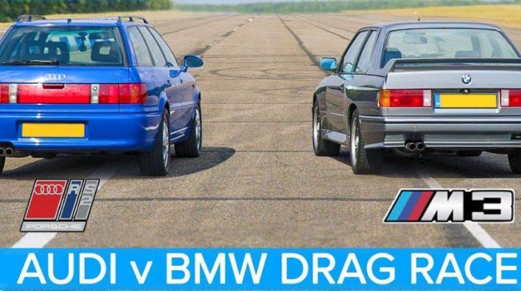 BMW E30 M3 vs Audi RS2 Dragrace