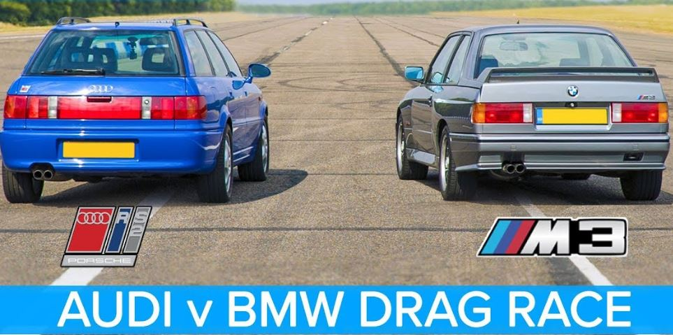 BMW E30 M3 vs Audi RS2 Dragrace