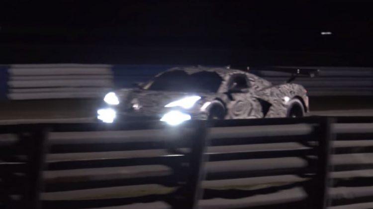 Corvette C8.R gespot tijdens test op Sebring