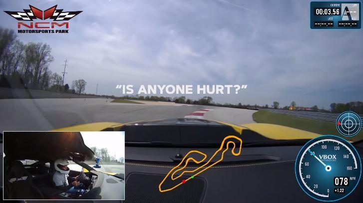 Corvette ZR1 belt hulpdiensten tijdens track day