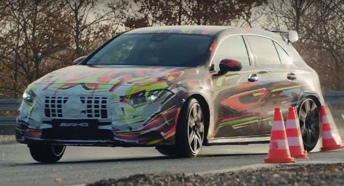 Video Nieuwe Mercedes Amg A45 Laat Drift Mode Zien