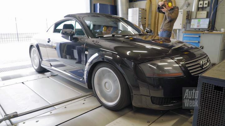 Op de Rollenbank Audi TT 1.8 Turbo