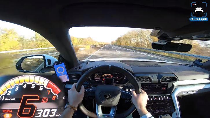 Zo ziet 300 kmh eruit in de Lamborghini Urus