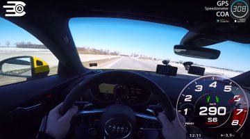 Audi TT RS tikt 290 kmh aan