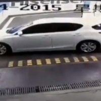 Auto staat goed vast in parkeergarage