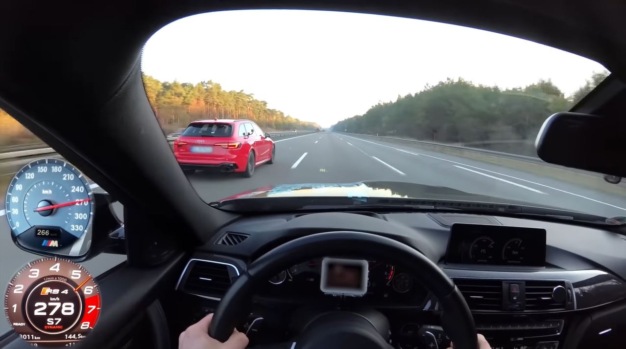 BMW M3 Competition en Audi RS4 trekken sprintjes op de Autobahn