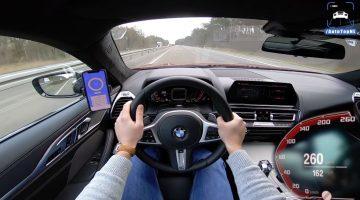BMW M850i naar topsnelheid van 260 kmh