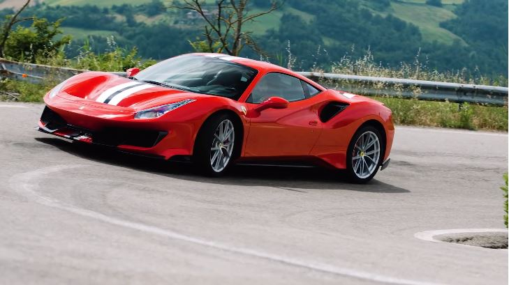 Chris Harris Ferrari 488 Pista
