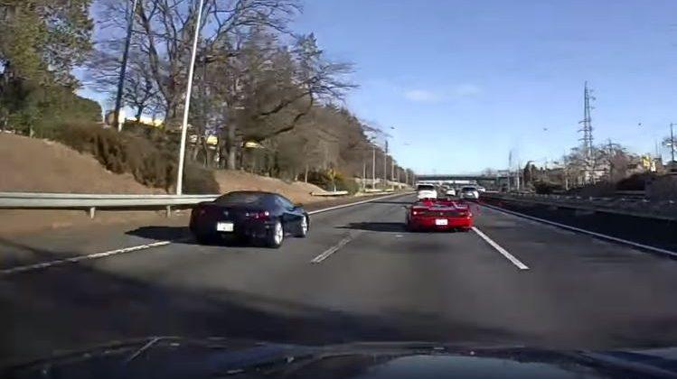 Ferrari 360 crasht tijdens straatrace met een Ferrari F50