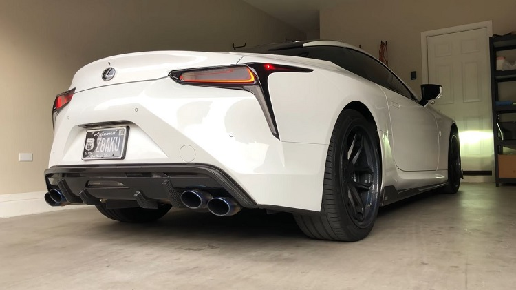 Lexus LC500 Straight Pipes
