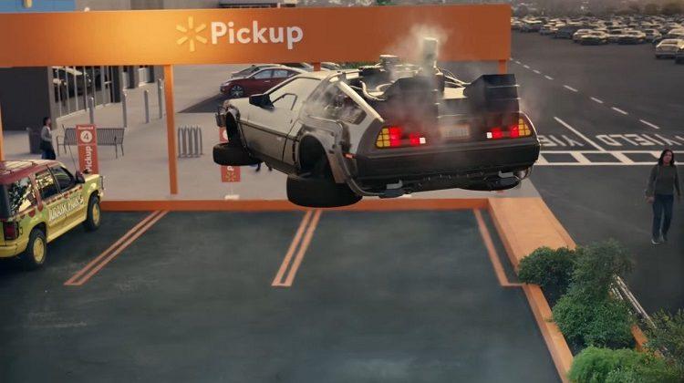 Walmart-reclame met filmauto's
