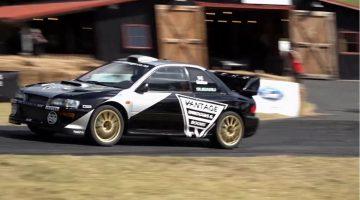 Alister McRae pakt record op Leadfoot Hillclimb in Subaru Impreza WRC