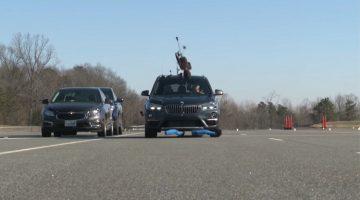 BMW X1 faalt hard in voetgangersdetectie