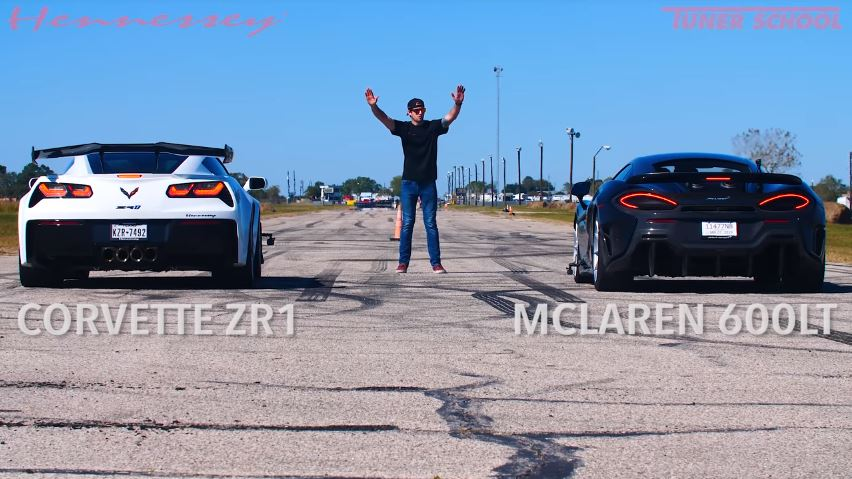 Corvette ZR1 vs McLaren 600LT