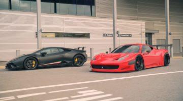 Lamborghini Huracán Performante en Ferrari 458 Challenge