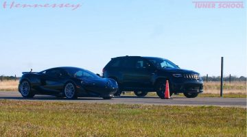 McLaren 600 LT vs Jeep Trackhawk Hennessey
