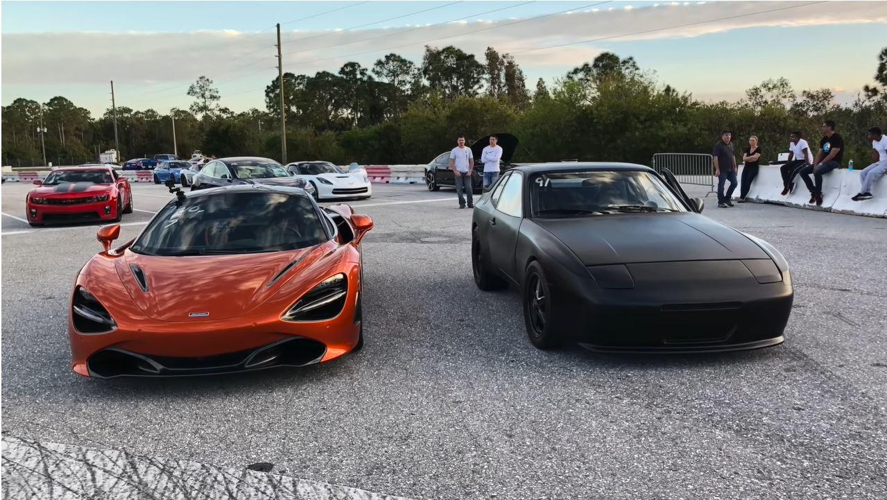McLaren 720S vs elektirsche porsche 944