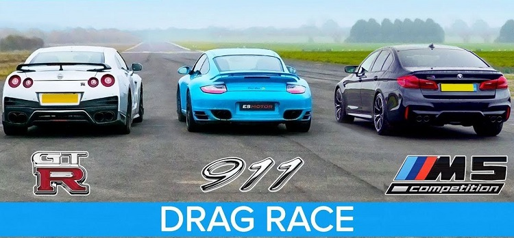 Nissan GT-R vs Porsche 911 Turbo S vs BMW M5 Competition