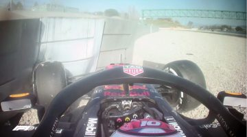 Pierre Gasly's crash met de Red Bull RB15