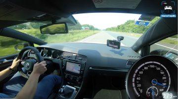 Volkswagen Golf R Mk7 haalt 280 kmh op de Autobahn