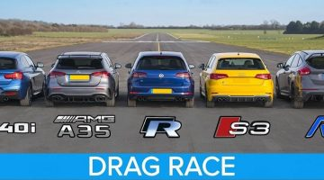AMG A35 vs M140i vs Golf R vs Audi S3 vs Focus RS