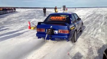 Deze BMW E30 M3 is de snelste auto ter wereld op ijs!